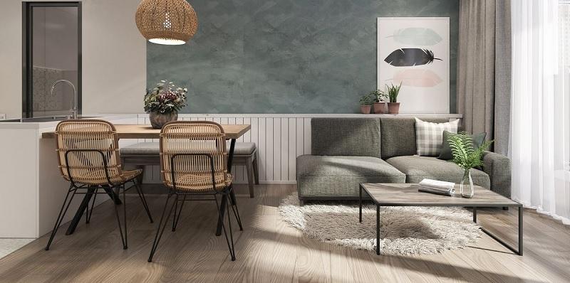 Những mẫu trang trí phòng khách chung cư tối giản 4