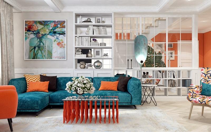 Những mẫu trang trí phòng khách chung cư cao cấp 6
