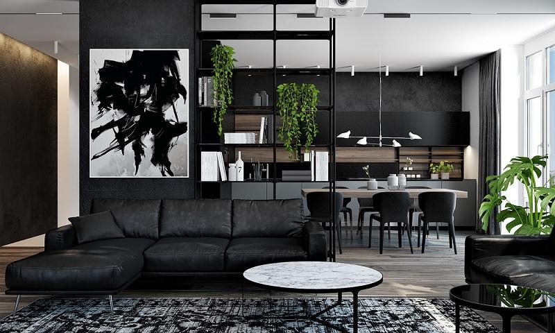 Những mẫu trang trí phòng khách chung cư cao cấp 3