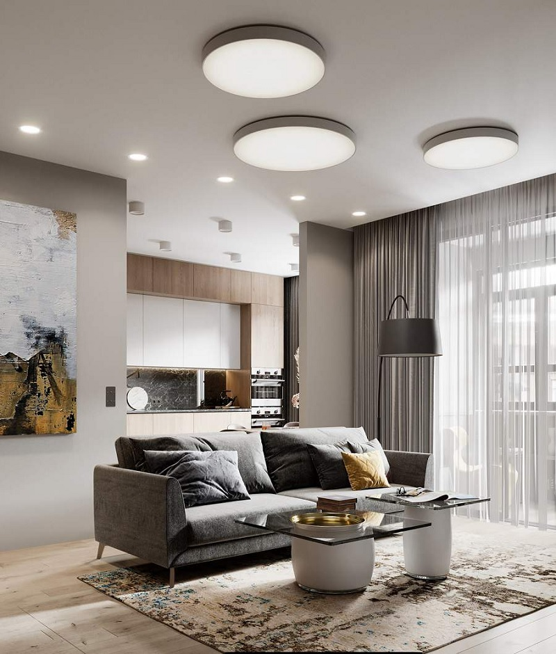 Những mẫu trang trí phòng khách chung cư cao cấp 7
