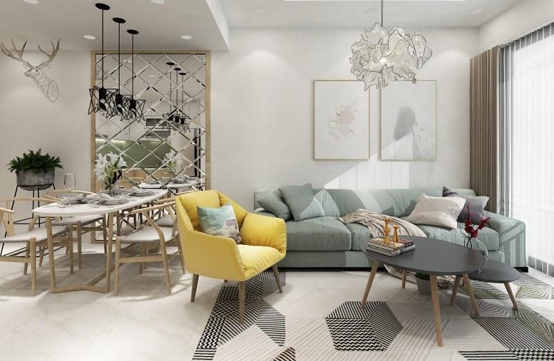 Những mẫu trang trí phòng khách chung cư cao cấp 5