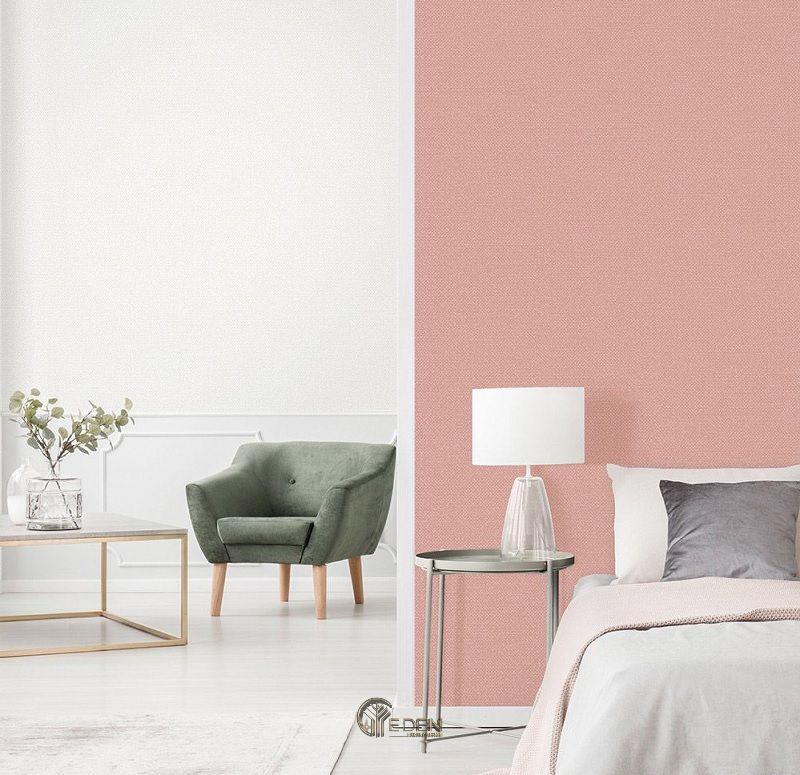 Mẫu phòng ngủ hiện đại với gam màu hồng, trắng pastel nhẹ nhàng
