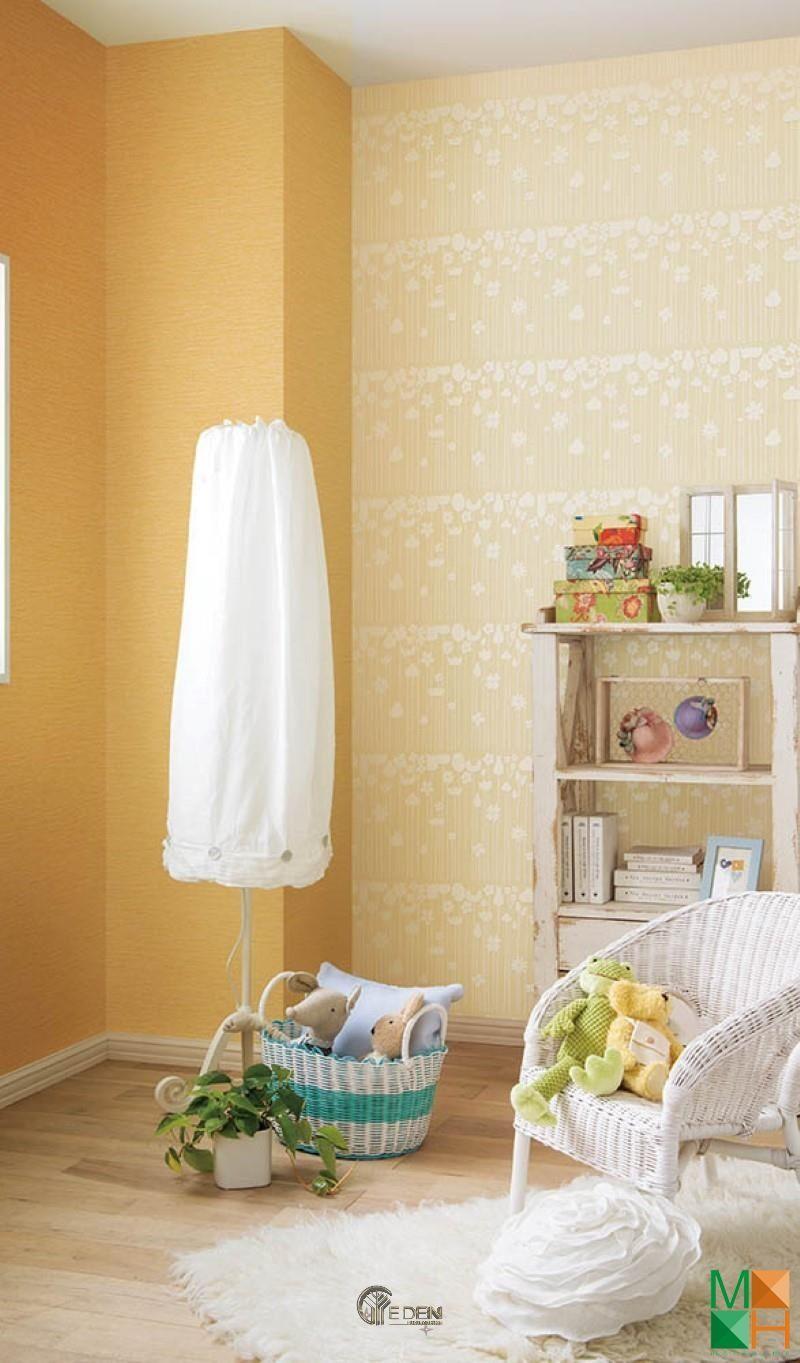 Mẫu phòng khách với gam màu Cam đào tươi sáng