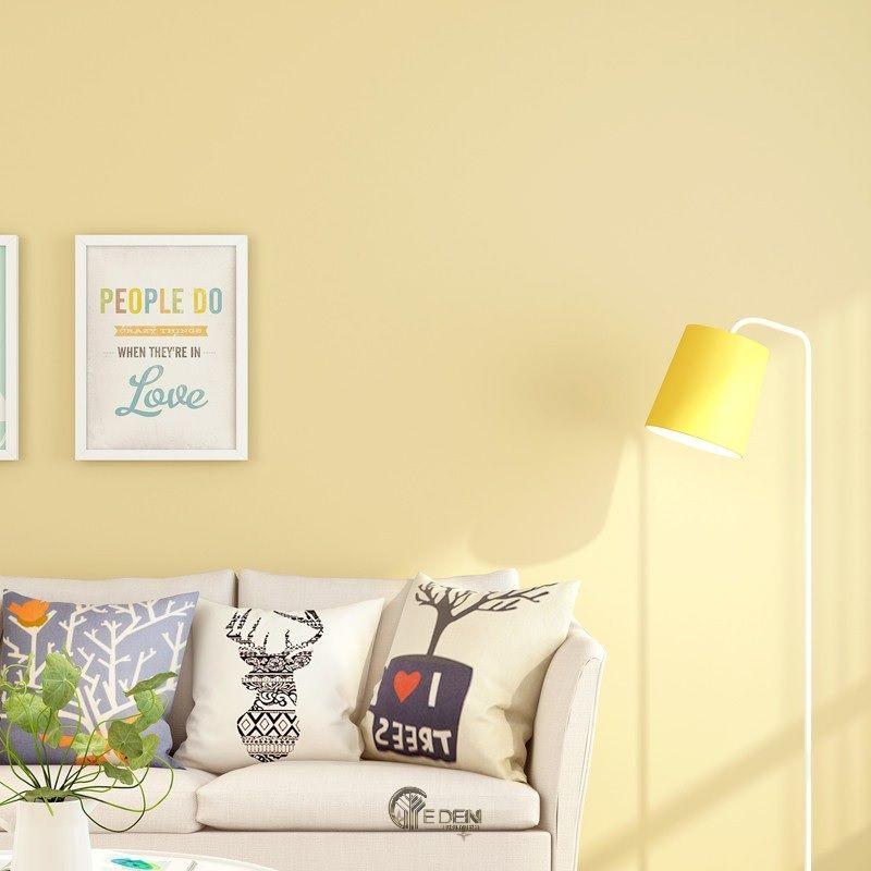 Biến không gian trở nên tươi sáng hơn với giấy dán tường vàng Pastel