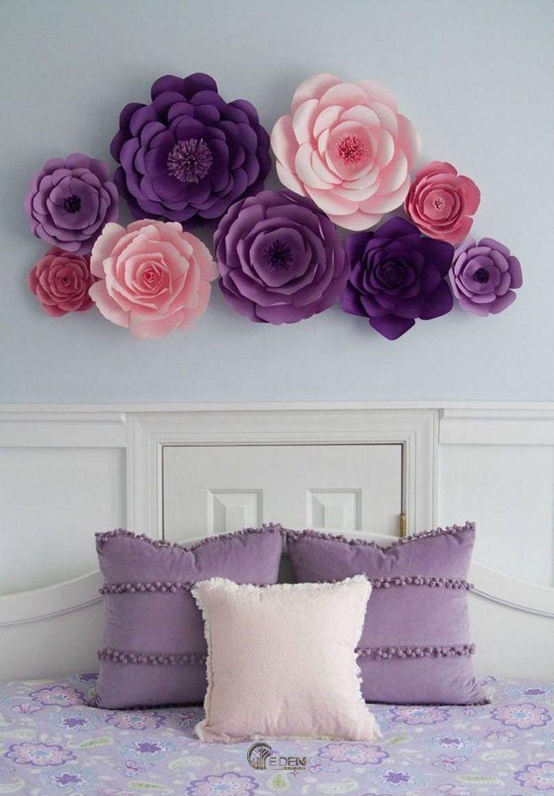 Mẫu tường hoa handmade sáng tạo, khác biệt
