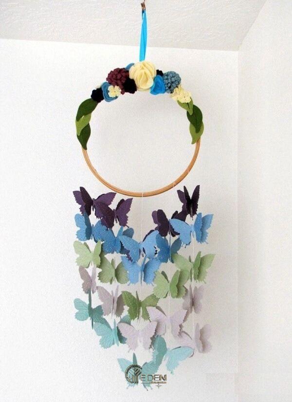 Trang trí bướm xinh handmade bằng giấy cho phòng ngủ