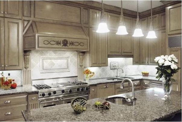Tủ bếp tân cổ điển ngày càng được tin dùng trong các gia đình