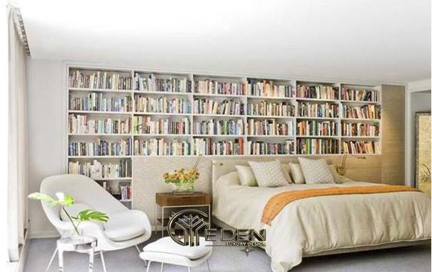 Trang trí đầu giường với tủ sách theo sở thích của bạn