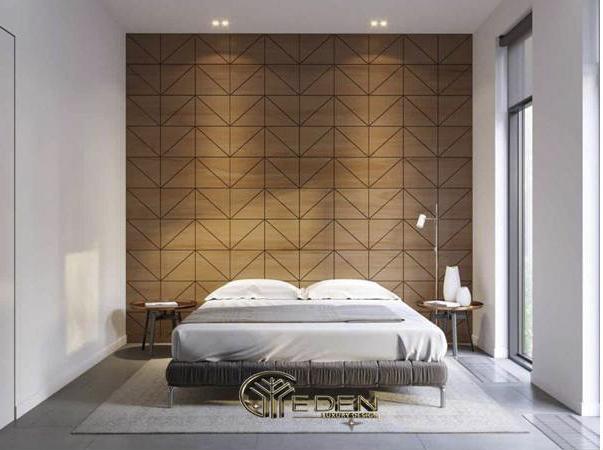 Trang trí đầu giường bằng gỗ công nghiệp