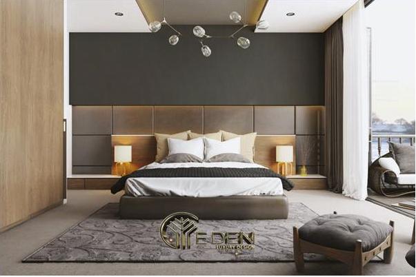 Vách đầu giường bằng da, mút là nơi nghỉ ngơi lý tưởng
