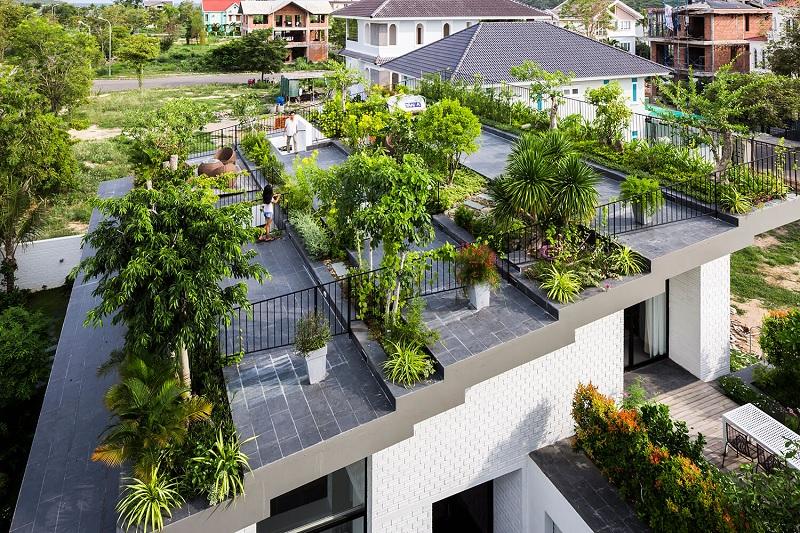 Thiết kế khu vườn nhỏ trên tầng thượng