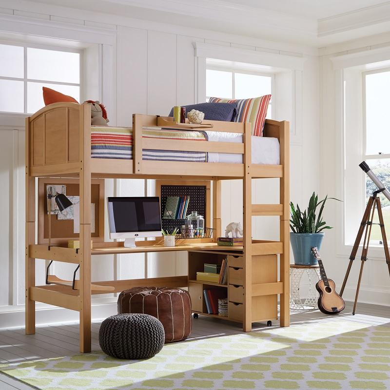 Mẫu giường tầng đa năng kết hợp bàn học, bàn làm việc