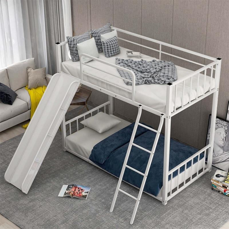 Mẫu giường tầng có cầu trượt, khu vui chơi cho bé