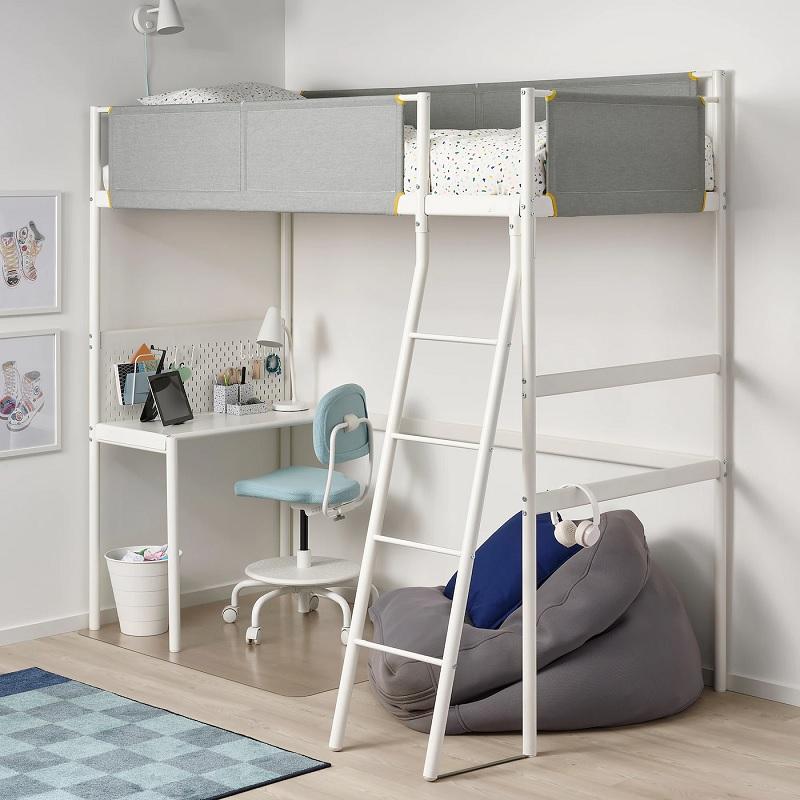 Mẫu giường tầng đa năng kết hợp bàn học, bàn làm việc đơn giản