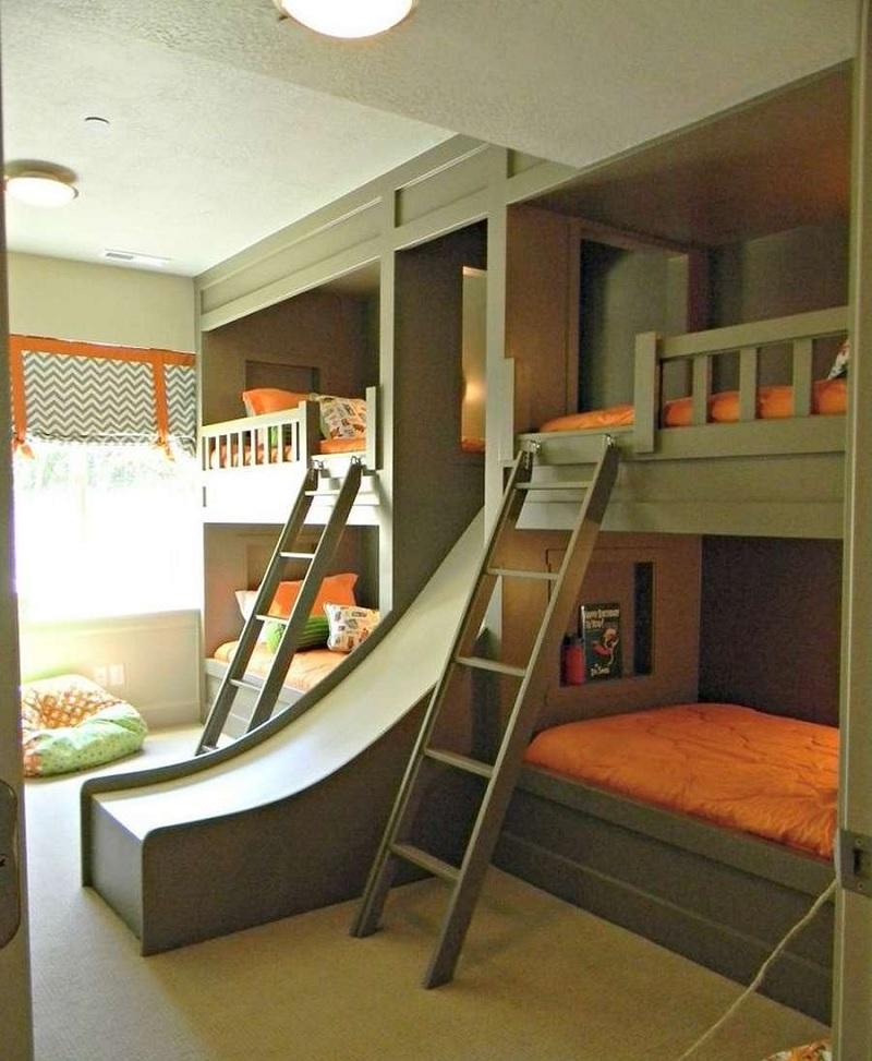 Mẫu giường tầng cho chị em, anh em tinh nghịch