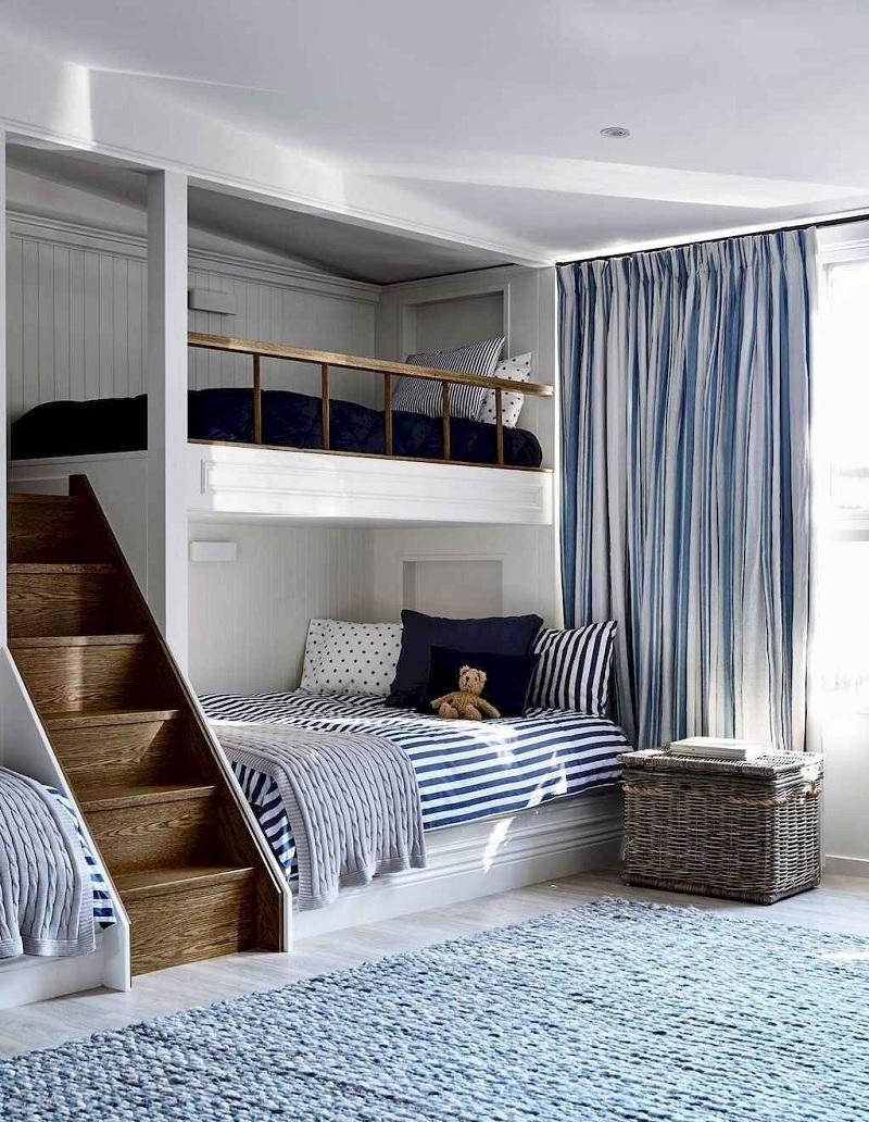 Mẫu giường tầng cho bé trai mạnh mẽ