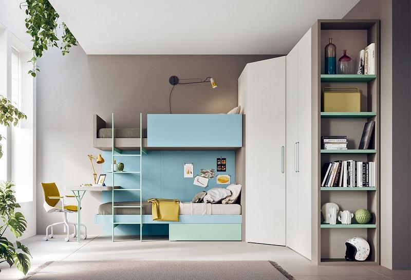 Giường tầng mang đến sự hiện đại, thông minh kích thích tính sáng tạo của bé.