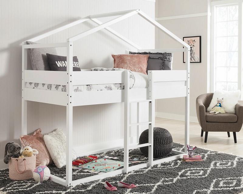 Mẫu giường tầng cho bé gái đáng yêu