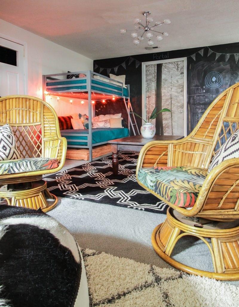 Ý tưởng kết hợp mẫu giường tầng đẹp với phòng khách
