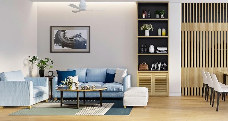 Diện tích không gian sẽ là yếu tố giúp bạn xác định được kích thước trang trí nội thất phòng khách, phòng ngủ…