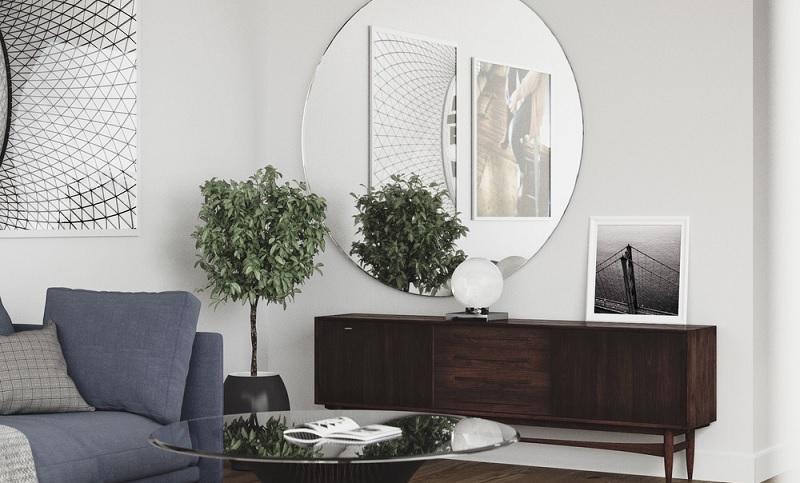 Gương chính là một trong những món đồ nội thất dành riêng cho những căn nhà, căn hộ nhỏ