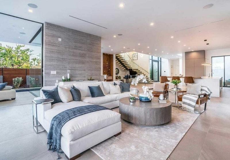 Đối với phong cách đương đại, được coi là làn gió mới, độc đáo khi thiết kế nội thất trong nhà đẹp.