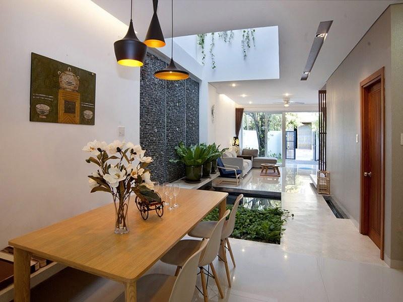 """Nội thất nhà ống đẹp với thiết kế """"xanh"""" trong nhà"""