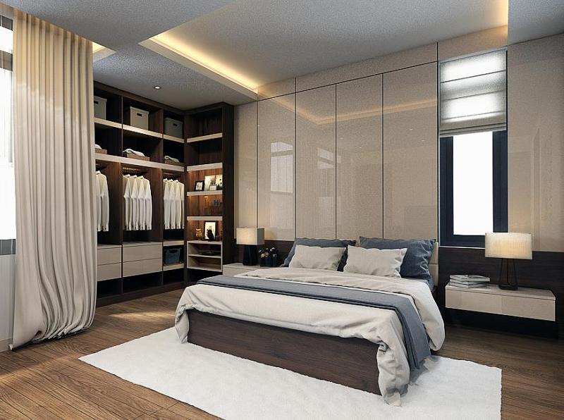 Phòng thay đồ kết hợp phòng ngủ