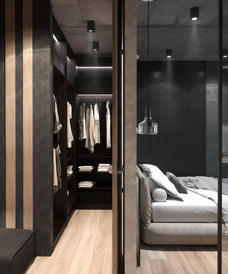 Xác định diện tích là công việc quan trọng trước khi xây dựng phòng thay đồ hiện đại.