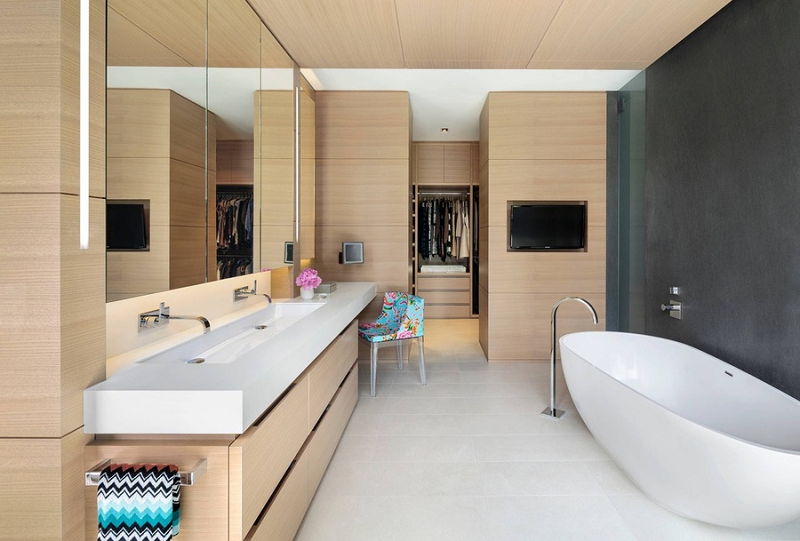 Phòng thay đồ kết hợp phòng tắm