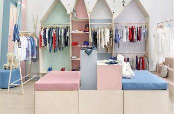 [Tổng hợp] Những mẫu thiết kế shop quần áo trẻ em đơn giản mà đẹp