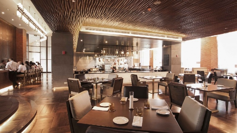 Thiết kế nội thất nhà hàng hiện đại đơn giản, tinh tế 2