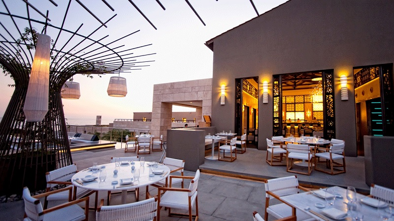 Mẫu thiết kế nhà hàng ăn uống phong cách sân thượng 1