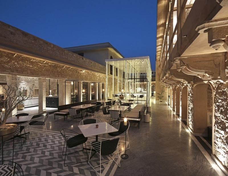 Mẫu thiết kế nhà hàng ăn uống phong cách sân thượng 2