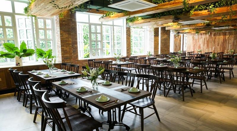 Thiết kế nội thất nhà hàng theo phong cách Xanh 2