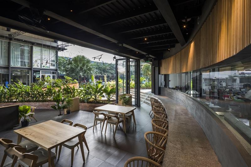 Thiết kế nội thất nhà hàng theo phong cách Xanh 5