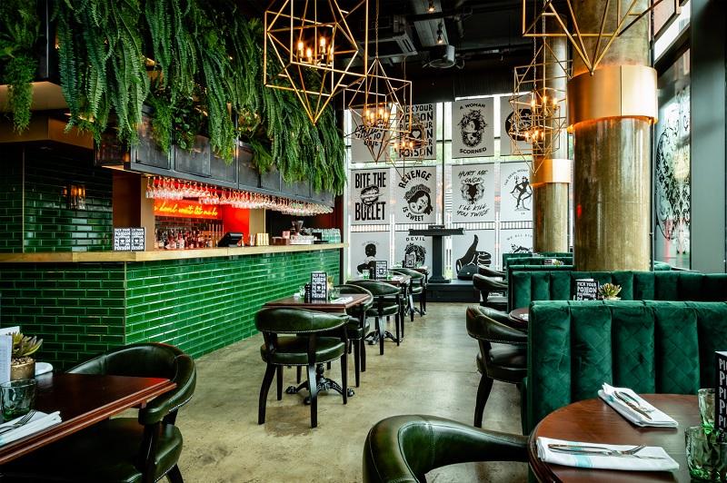 Thiết kế nội thất nhà hàng theo phong cách Xanh 4