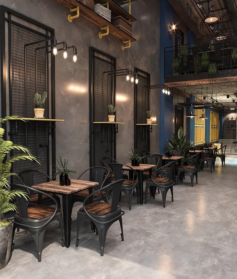 Thiết kế nội thất nhà hàng theo phong cách mộc mạc, giản dị 2