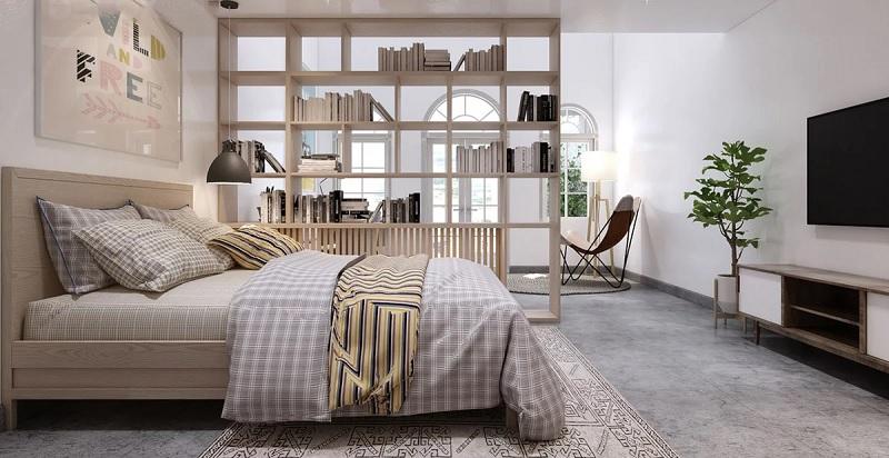 Thiết kế giá trưng bày cho phòng ngủ