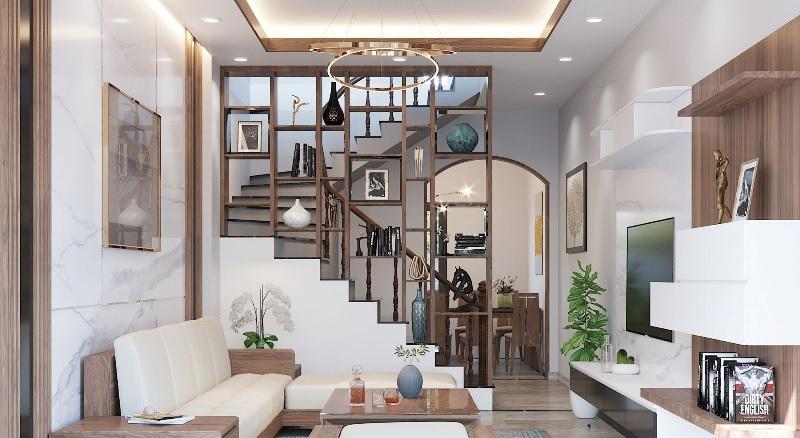 Thiết kế giá trưng bày cho phòng khách