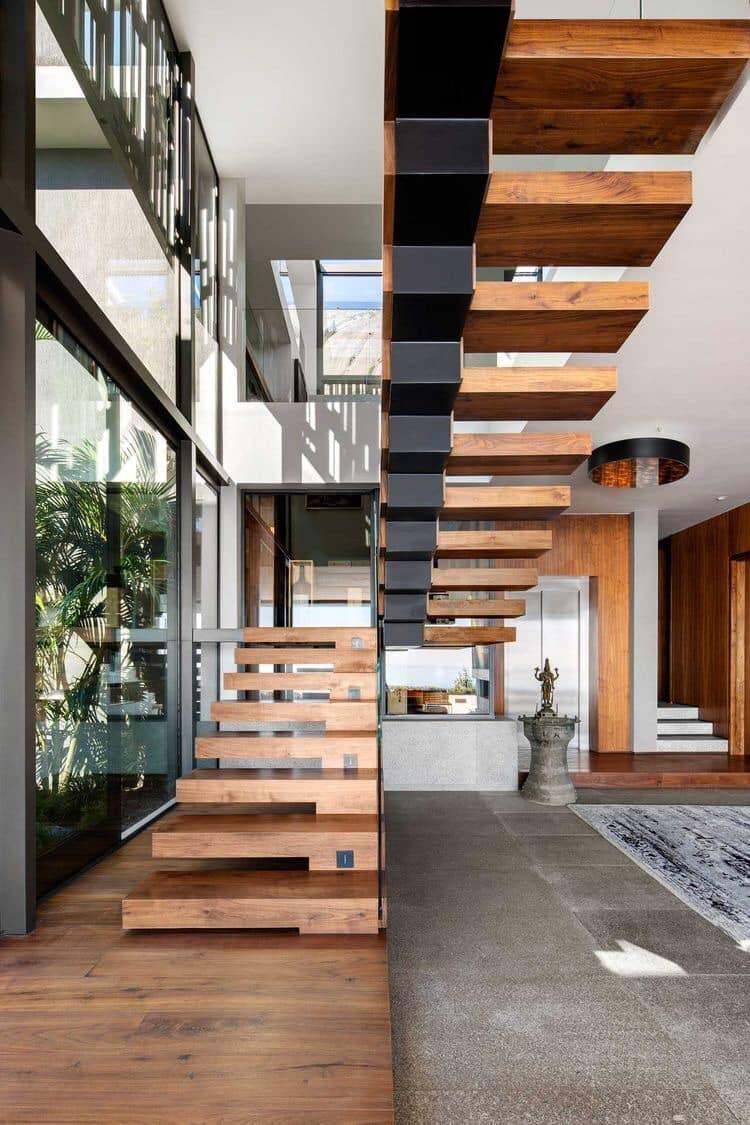 Tuyển chọn các mẫu cầu thang gỗ đẹp, ấn tượng