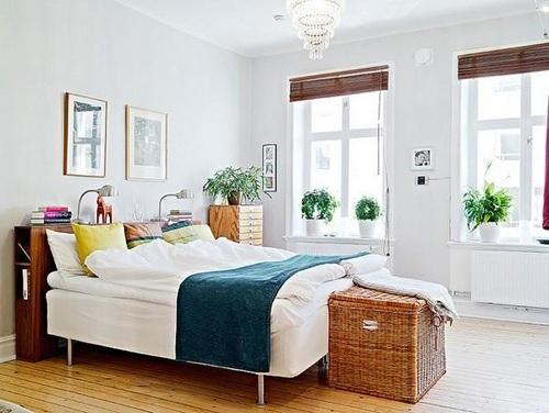 Không gian phòng ngủ đẹp và thoáng hơn với cây xanh trang trí