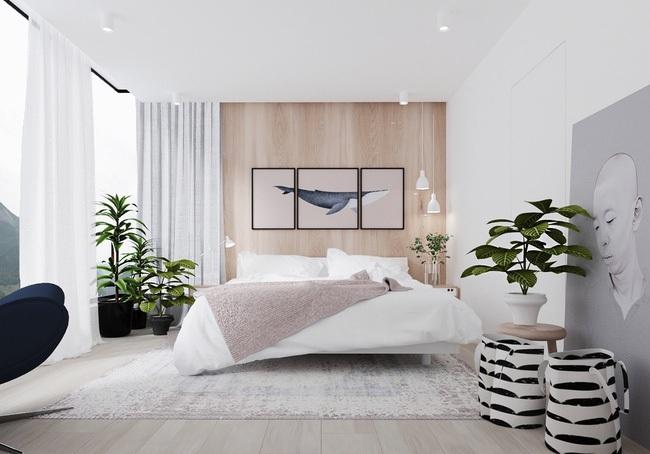 Không gian hài hòa, đẹp tinh tế với màu sơn trắng dễ chịu