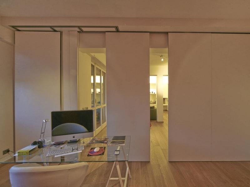Lựa chọn các trang trí căn hộ chung cư với các vách ngăn gỗ
