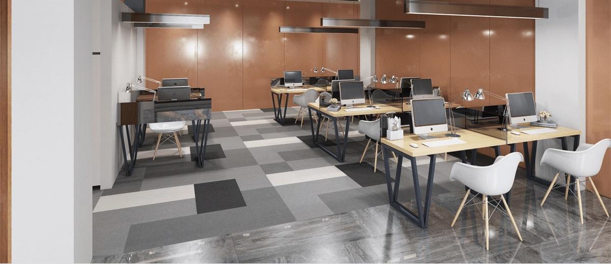 Mẫu văn phòng 30m2 được thiết kế tối giản nhưng không kém phần hiện đại