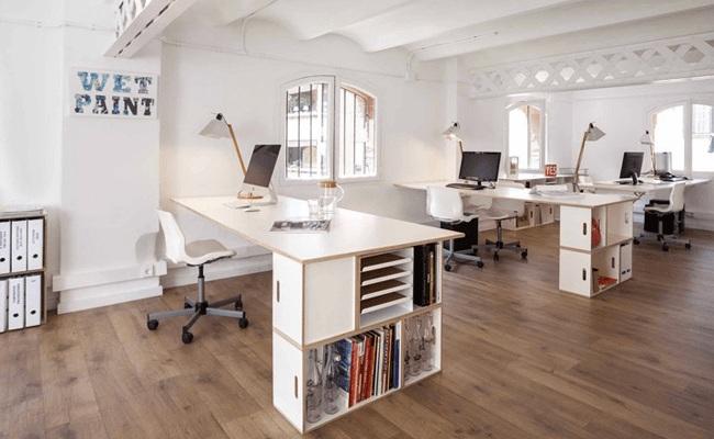 Văn phòng làm việc hiện đại, không gian mở thoáng đãng