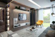 Các mẫu kệ trang trí phòng khách chung cư đẹp hot nhất 2021