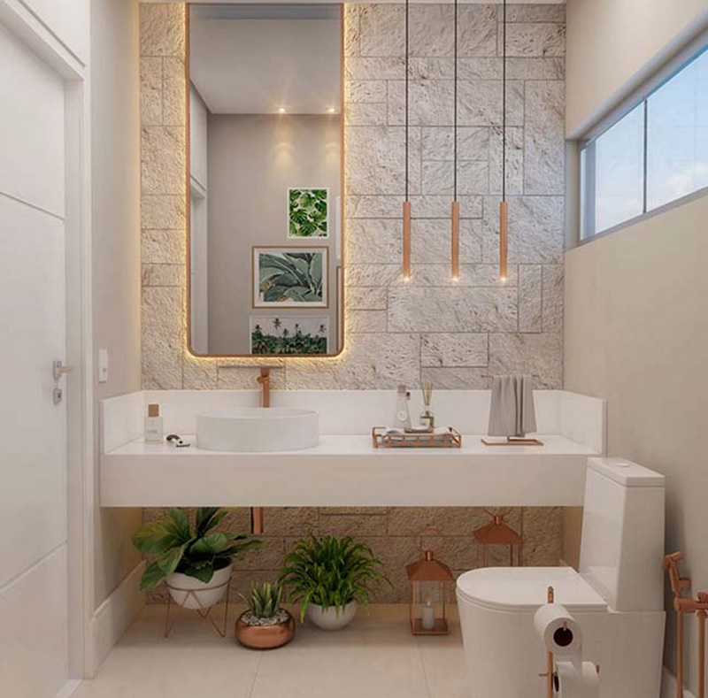 Phòng tắm mang phong cách trẻ trung thành dành cho các bạn trẻ năng động và đầy cá tính.
