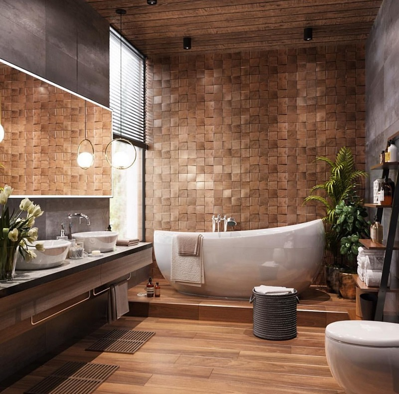 Mẫu phòng tắm sang trọng cho không gian lớn