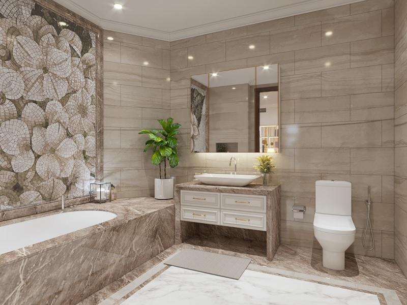 """Phong cách phòng tắm """"xanh"""", mát mẻ"""